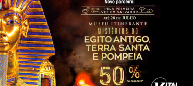 Descontos exclusivos: Museu Itinerante Mistérios do Egito